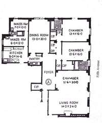floorplan for 1165 Fifth Avenue #5A