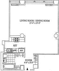 floorplan for 252 Seventh Avenue #8Z