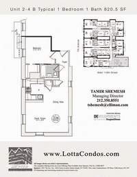 floorplan for 159 West 118th Street #3B