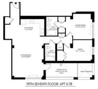 floorplan for 2021 First Avenue #5B