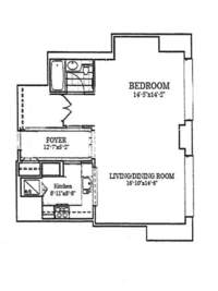 floorplan for 10 West Street #24D