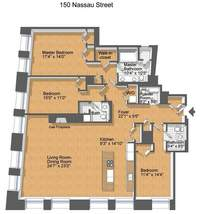 floorplan for 150 Nassau Street #19B