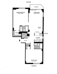 floorplan for 50 Lexington Avenue #PHH