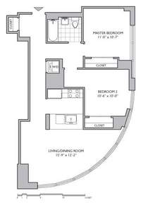 floorplan for 306 Gold Street #8D