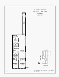 floorplan for 25 Murray Street #6C
