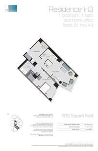 floorplan for 77 - Hudson Street #3108