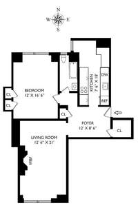 floorplan for 205 East 78th Street #12J