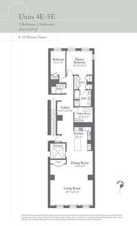 floorplan for 8 Warren Street #5EAST
