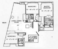 floorplan for 10 West Street #30A