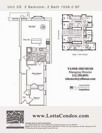 floorplan for 159 West 118th Street #2G