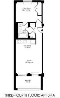 floorplan for 2021 First Avenue #3A