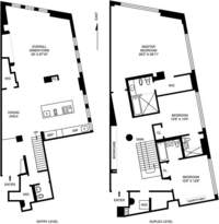 floorplan for 21 Astor Place #7E