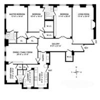 floorplan for 1165 Fifth Avenue #3A