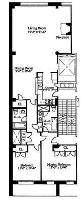 floorplan for 27 North Moore Street #4B