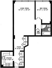 floorplan for 7 East 14th Street #529