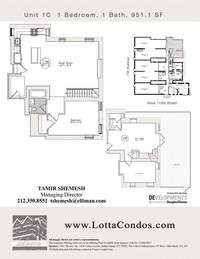 floorplan for 159 West 118th Street #1C