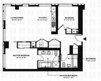 floorplan for 150 Myrtle Avenue #1801