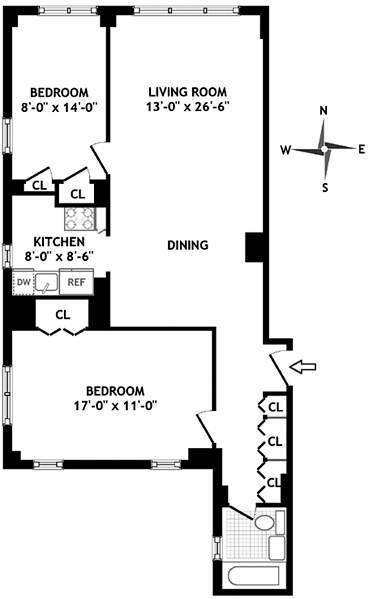 StreetEasy: 444 East 75th St. #11A - Co-op Apartment Sale at The Larrimore in Upper East Side, Manhattan
