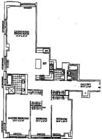 floorplan for 252 Seventh Avenue #11D