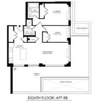 floorplan for 2021 First Avenue #8B