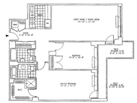 floorplan for 99 Jane Street #6E