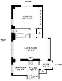 floorplan for 205 East 78th Street #16T