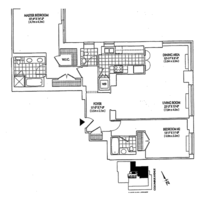 floorplan for 2 Columbus Avenue #37B