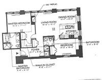 floorplan for 150 Nassau Street #10D