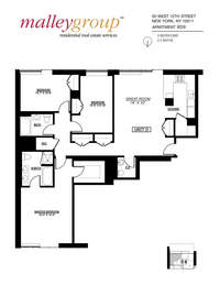 floorplan for 50 West 15th Street #9D9