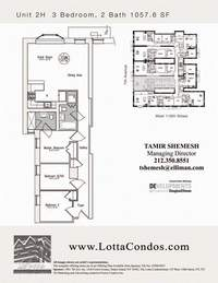 floorplan for 159 West 118th Street #2H