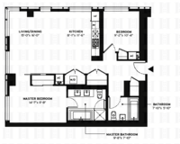 floorplan for 150 Myrtle Avenue #2701