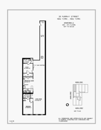 floorplan for 25 Murray Street #4C