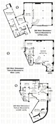 floorplan for 260 West Broadway #12C