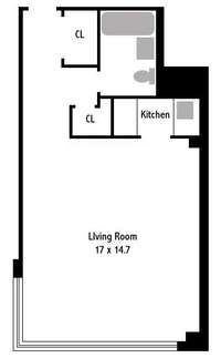 floorplan for 233 East 70th Street #12R