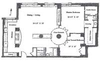 floorplan for 401 East 74th Street #15R
