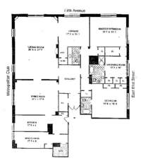 floorplan for 795 Fifth Avenue #707