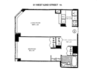 floorplan for 61 West 62nd Street #18L