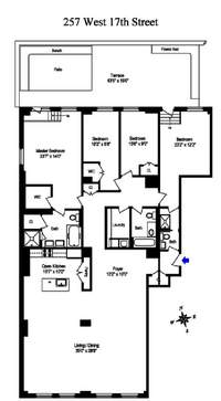 floorplan for 257 West 17th Street #2A