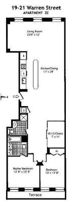 floorplan for 19 Warren Street #2E