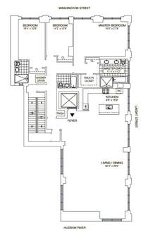 floorplan for 414 Washington Street #5THFL