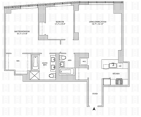 floorplan for 164 Kent Avenue #9H