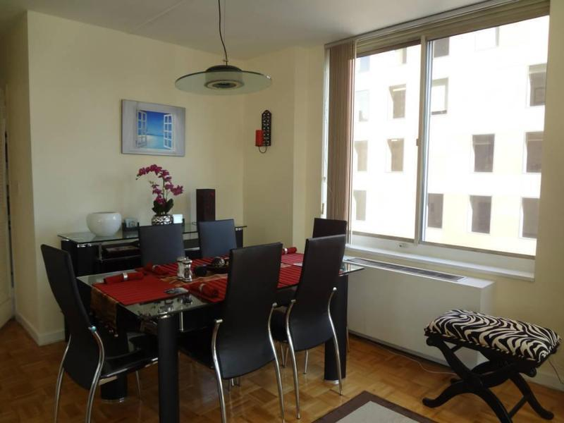 Views all over,pristine and spacious furnished 1 bedroom/1.5 baths