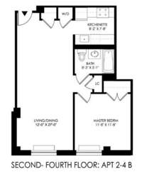 floorplan for 2021 First Avenue #2B