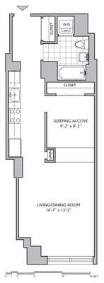 floorplan for 306 Gold Street #8G