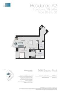 floorplan for 77 - Hudson Street #2801
