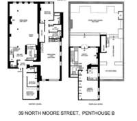 floorplan for 39 North Moore Street #PH