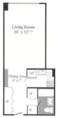 floorplan for 7 East 14th Street #722
