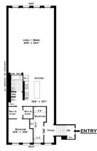 floorplan for 130 Watts Street #6N