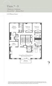 floorplan for 8 Warren Street #7FL