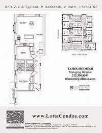 floorplan for 159 West 118th Street #3A